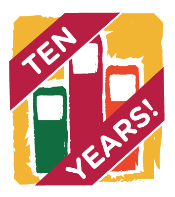 Freedom Readers 10th Anniversary Logo Icon